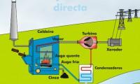 Obtención de electricidade mediante queima directa de biomasa