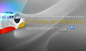Acumulación de energía eólica en forma de hidrógeno