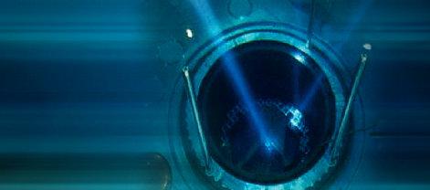 Interior de un reactor nuclear