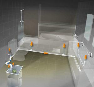 Sistema de recollida e reutilización de augas grises do baño