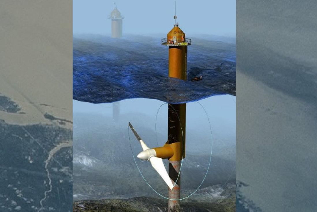 Turbina de corrientes marinas